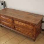 Ancient chest popular South Italy restoration