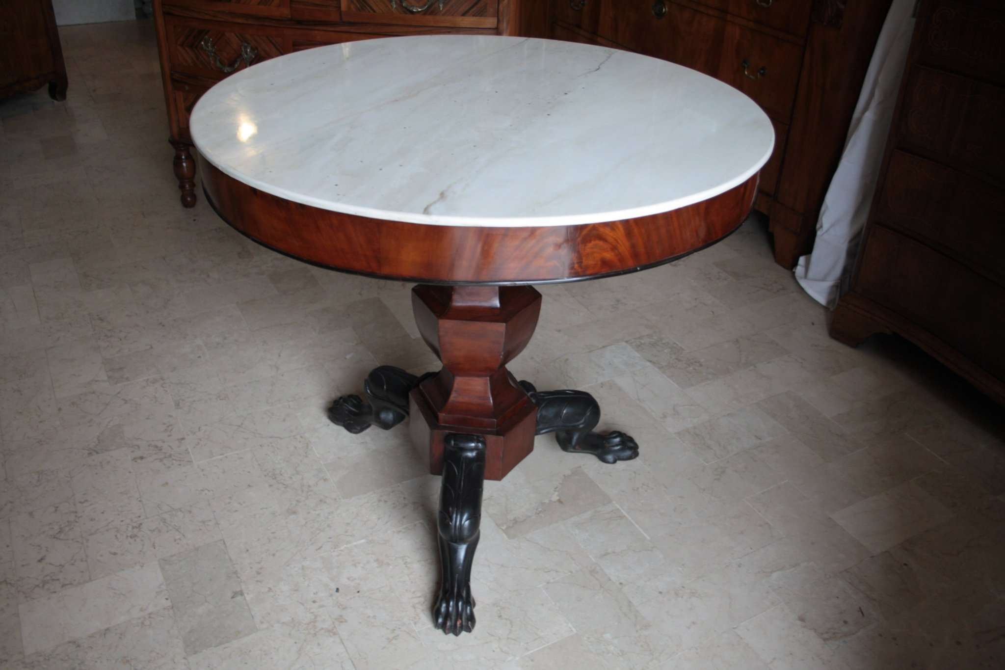 Empire mahogany table