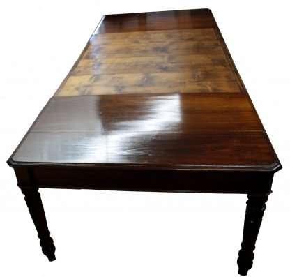 Table à manger en 1800 et restaurée en cerisier bois de châtaignier 3 mètres extensibles